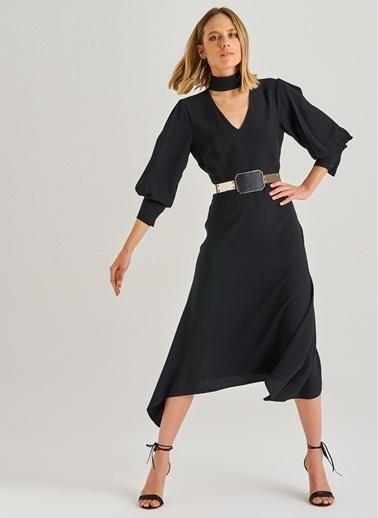People By Fabrika Choker Detaylı Elbise Siyah